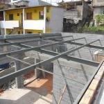 Cobertura estrutura metálica residencial