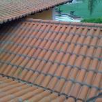 Cobertura com telha colonial