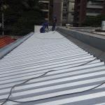 Cobertura com telha galvanizada