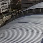 Cobertura com telha metálica