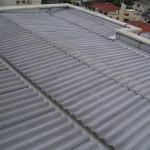 Cobertura com telha ondulada