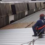 Cobertura com telha termoacústica