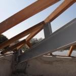 Estrutura metálica com madeira