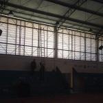 Estrutura metálica para quadra de esporte