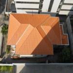 Cobertura com telha cerâmica
