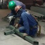 Estrutura de ferro para galpão